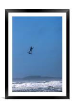 Rough seas at Rhosneigr, Framed Mounted Print