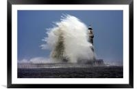 Roker on a rough day, Framed Mounted Print