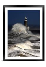 Tynemouth Pier, Framed Mounted Print