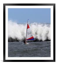 Sailing race, Framed Mounted Print