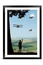 Childhood Dreams - The Flypast, Framed Mounted Print