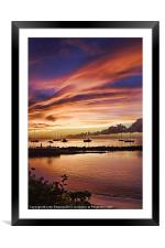 Crown Point Sunset, Tobago, West Indies, Framed Mounted Print