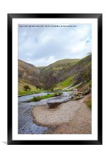 The River Dove by Thorpe Cloud, Framed Mounted Print