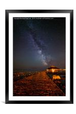 Milky Way above St Michaels Mount, Framed Mounted Print