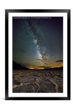 Milky Way over Death Valley, Framed Mounted Print