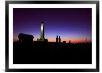 At the going down of the Sun, Framed Mounted Print