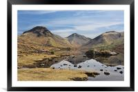 Reflections of Wast Water 2, Framed Mounted Print
