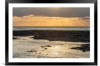 Sunset from Minnisbay, Framed Mounted Print