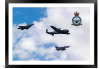 617 Squadron, Past Present and Future, Framed Mounted Print