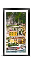 Paddle Steamer on lake Garda, Framed Mounted Print