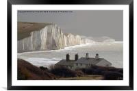 The Coastguard Cottages at Cuckmere Haven, E Suss, Framed Mounted Print