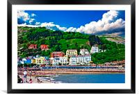 Digital painting of hotels on great orme Llandudno, Framed Mounted Print