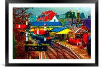 A digitally converted painting of Llangollen railw, Framed Mounted Print