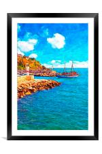 Kaleici harbour in Antalya Turkey, Framed Mounted Print