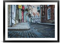 Lincoln, Steep Hill, early morning, Framed Mounted Print