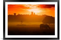 Lincoln Cathedral at Sunrise, Framed Mounted Print