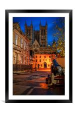 Lincoln Cathedral before dawn, Framed Mounted Print