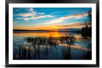 Sunset on the river, Framed Mounted Print
