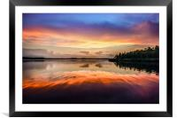 Sunset Symmetry, Framed Mounted Print