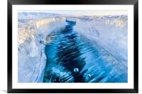 The crack of Baikal ice, Framed Mounted Print
