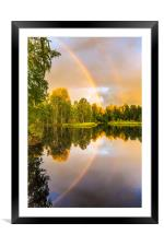 Rainbows: The gift from heaven to us all, Framed Mounted Print