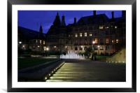 Peace Gardens at dusk, Framed Mounted Print