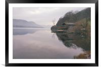 Ullswater Boat House, Framed Mounted Print