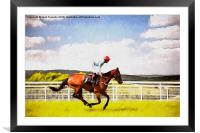 Up On The Downs - Goodwood Races, Framed Mounted Print