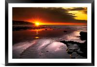 and the sun is up, Framed Mounted Print