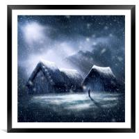 Going Home for Christmas, Framed Mounted Print