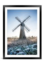 Windmill , Framed Mounted Print