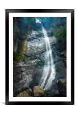 Waterfall, Framed Mounted Print