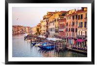 Life on Grand Canal, Framed Mounted Print