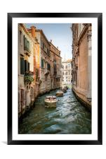 Water Taxis, Framed Mounted Print