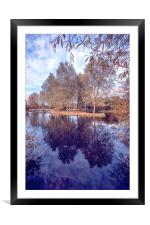 River Reflections, Framed Mounted Print