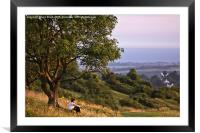 Contemplation on Cissbury Ring, Worthing, Framed Mounted Print