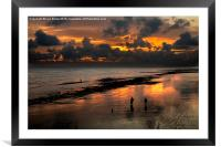 Sunset from Worthing Pier, Framed Mounted Print