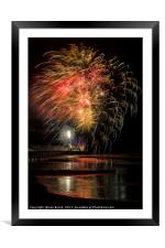 Worthing Fireworks 2017, Framed Mounted Print