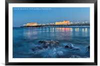 Worthing Pier Blue Hour, Framed Mounted Print