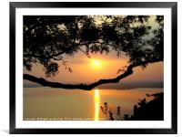 Sunset in India, Framed Mounted Print