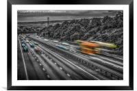 A Rush Hour Flash of Colour, Framed Mounted Print