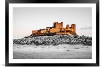 The Colourful Bamburgh Castle, Framed Mounted Print