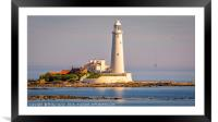 Lighthouse Glow..........., Framed Mounted Print