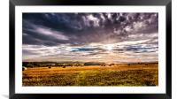 Drama in the Skies 2, Framed Mounted Print
