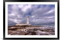 Standing Proudly St. Mary's Lighthouse, Framed Mounted Print