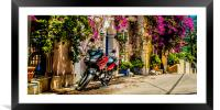 Motorbike in Colour, Framed Mounted Print