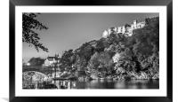 Night by the River in Mono, Framed Mounted Print