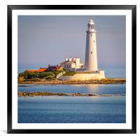 Stunning St Mary's Lighthouse, Framed Mounted Print