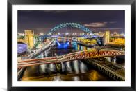Night at the Toon, Framed Mounted Print