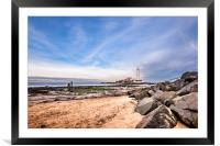 St. Mary's Lighthouse and Visitor Centre, Framed Mounted Print